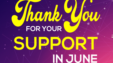 Thank you for your Support in June
